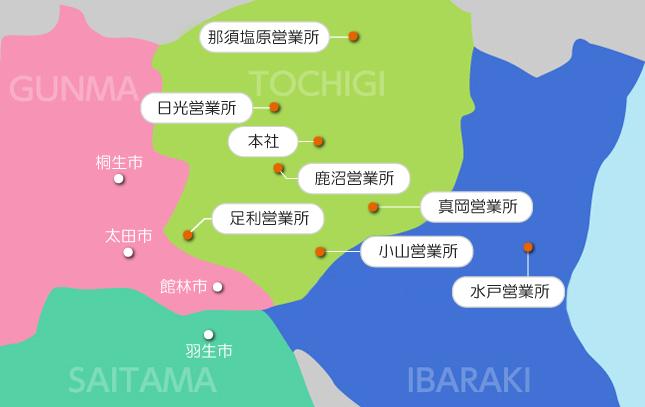 明電産業事業所マップ